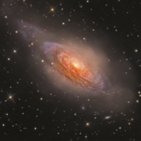NGC 3521, Bernard Miller, USA.  This beautiful galaxy in a bubble is located about 26 million light years away in the constellation Leo.