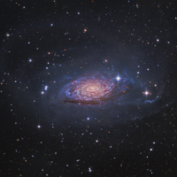 M63 LRGBHa, by Tony Hallas, USA. This galactic sunflower is a flocculent spiral galaxy about 30 million light years away in the constellation Canes Venatici.