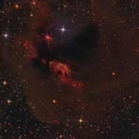Sharpless 239 in Taurus, by Mark Hanson - Stellar Winds Observatory, USA.  This eerie cloud of gas and dust lie about 450 light years away in the southern end of the Taurus molecular cloud.