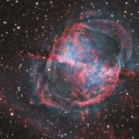 NGC 6853 (M27) The Dumbbell Nebula, by R. Jay GaBany, Cosmotography.com, USA.  A dying red giant sheds its outer layer creating this cosmic dumbbell in the constellatio Vulpecula.