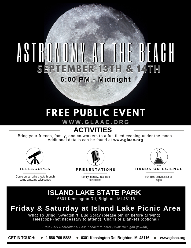 Astronomy at the Beach - Friday @ Island Lake State Park | Brighton | Michigan | United States