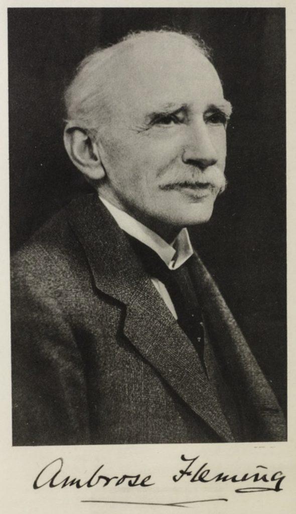 J. A. Fleming died, 1945 (b. 1849).