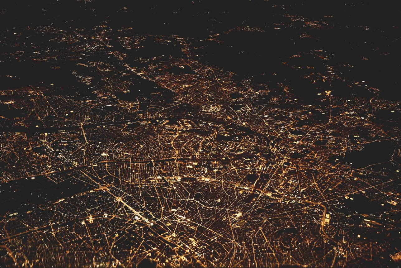 Aerial View of Rome - Light Pollution
