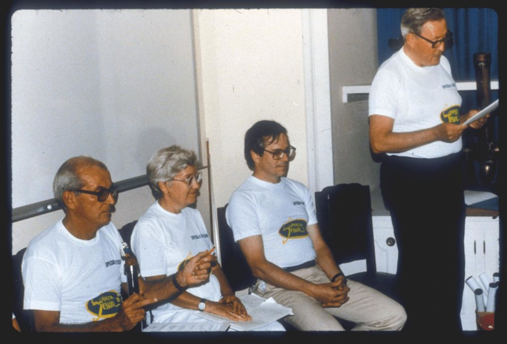 Vatican Obsevatory team members, 1986.