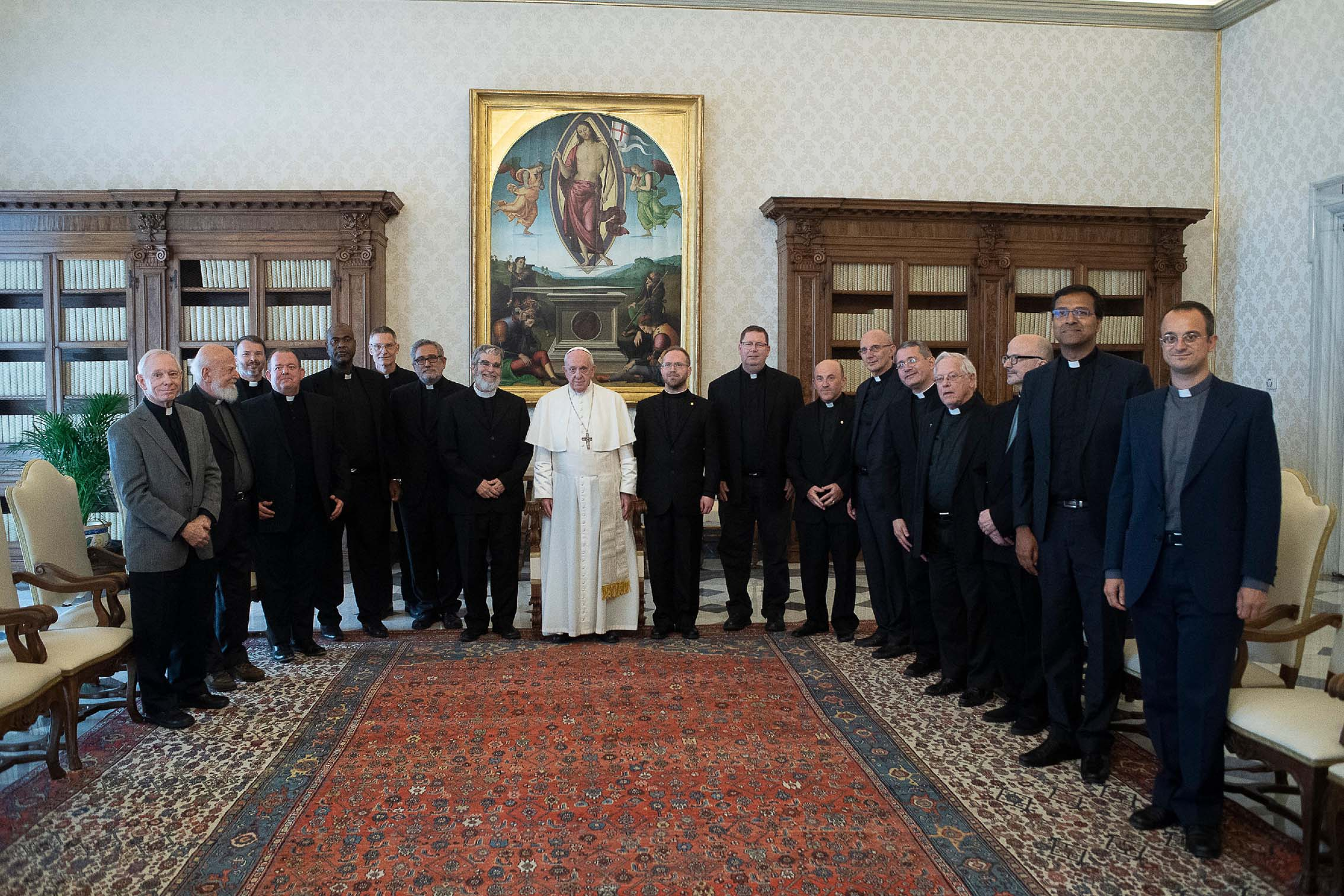 Group Shot of Pope Francis and the Vatican Observatory Team