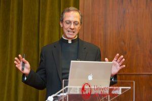 Fr. Giuseppe Tanzella-Nitti, Vatican Observatory Adjunct Scholar, speaking in Pamplona