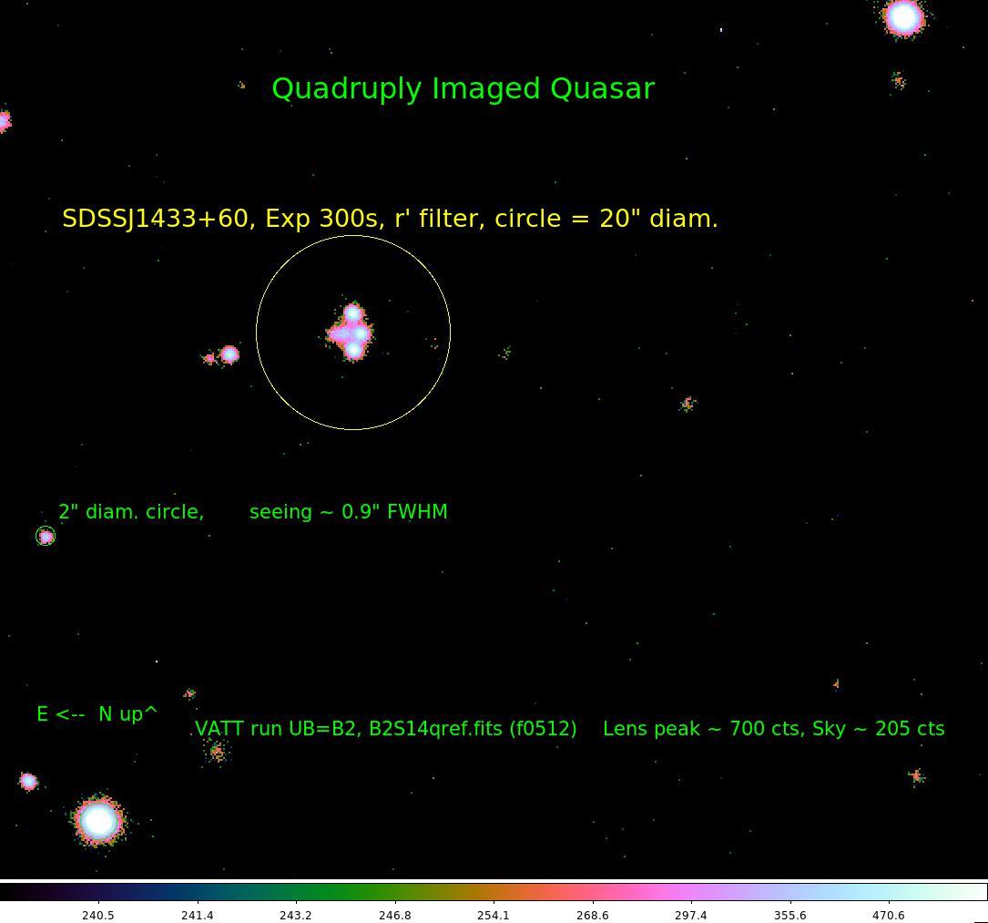 VATT Image: Quadruply Imaged Quasar