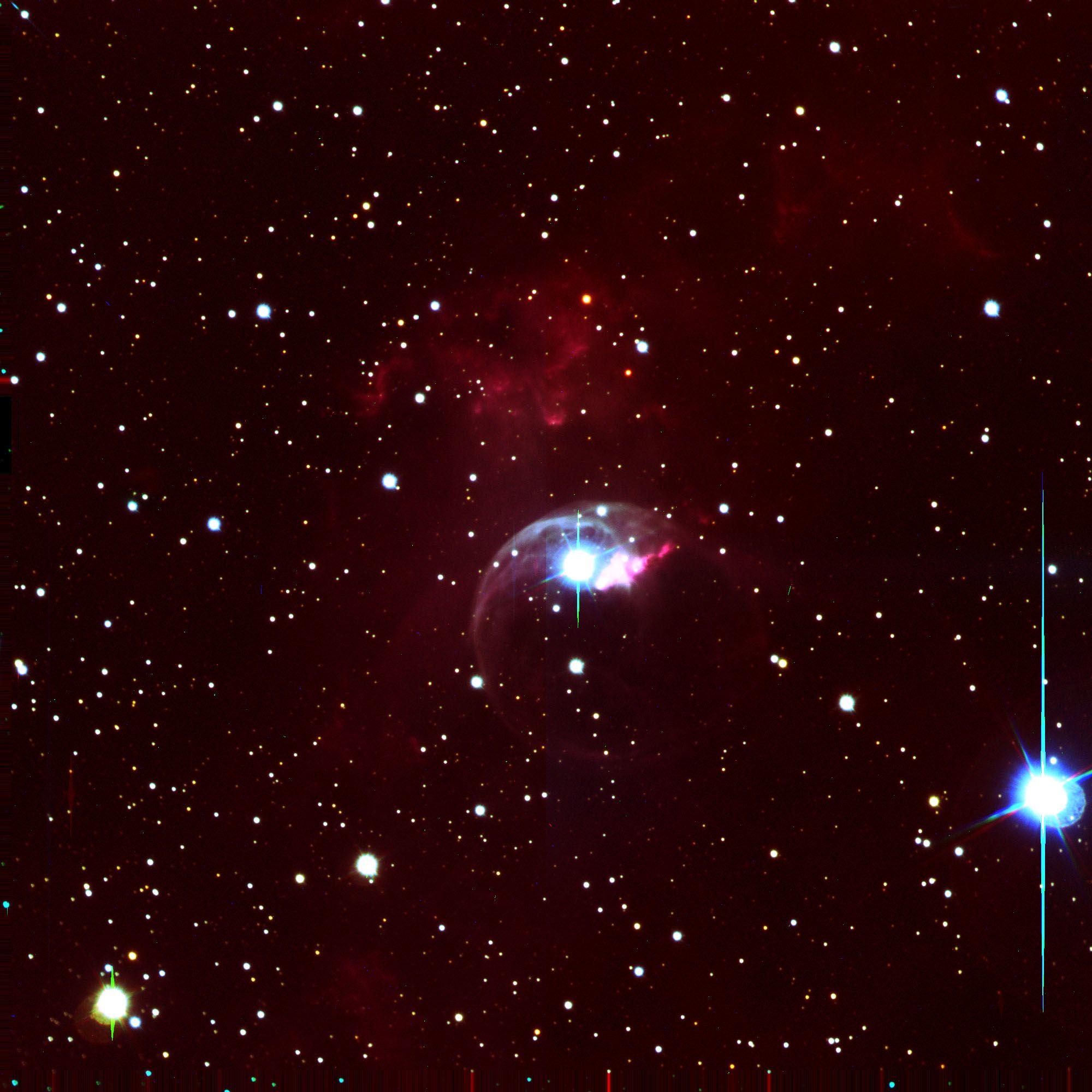 Emission Nebula NGC 7635, the Bubble Nebula