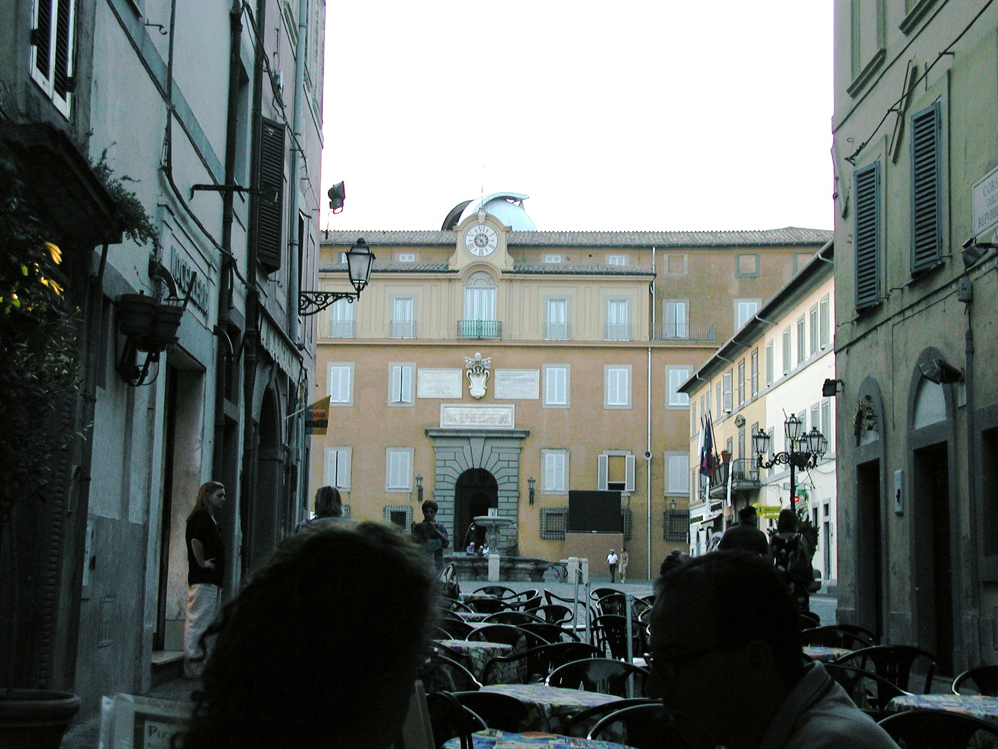 View of the Papal Palace from Castel Gandolfo