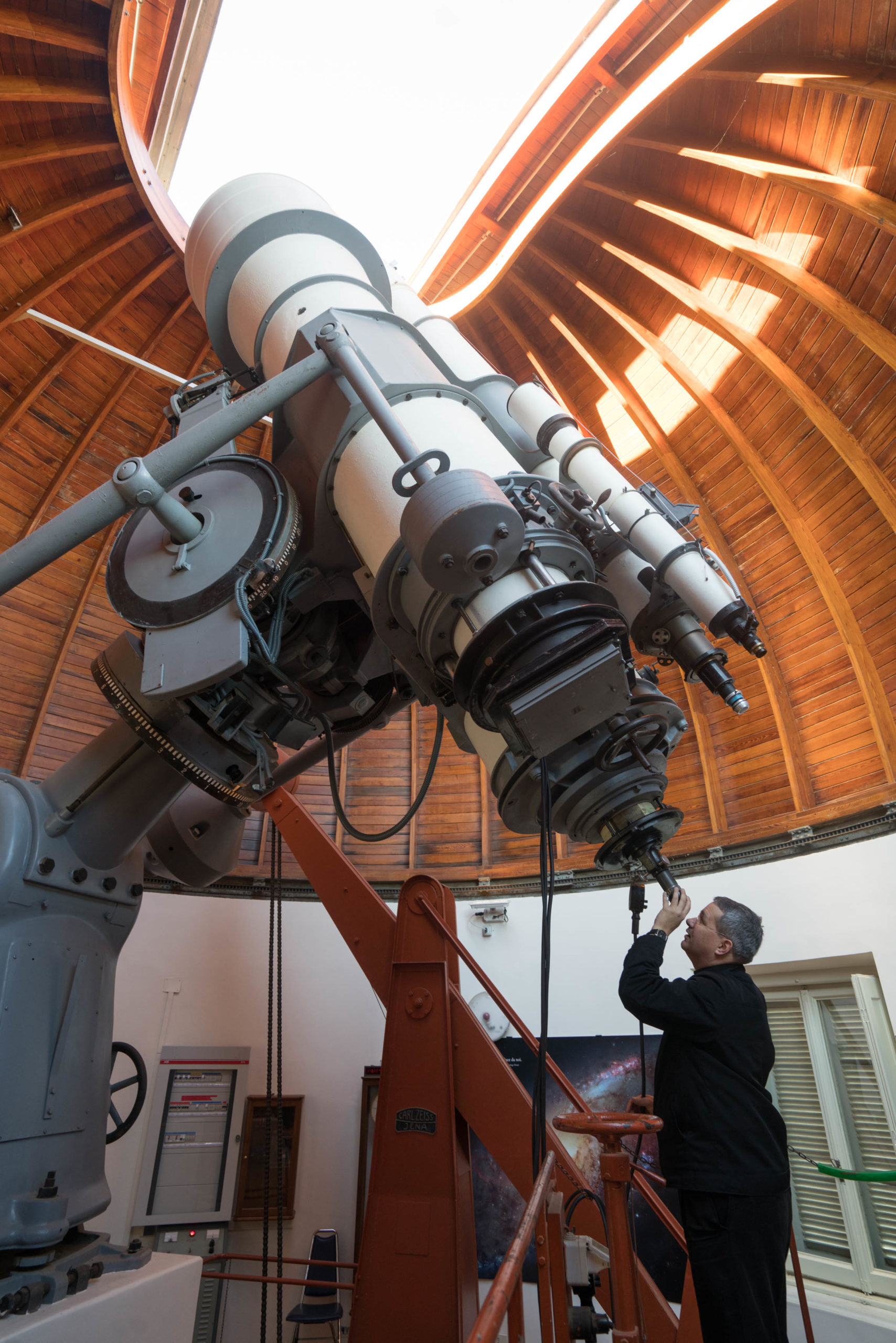 David Brown with the Zeiss Double Astrograph at Castel Gandolfo