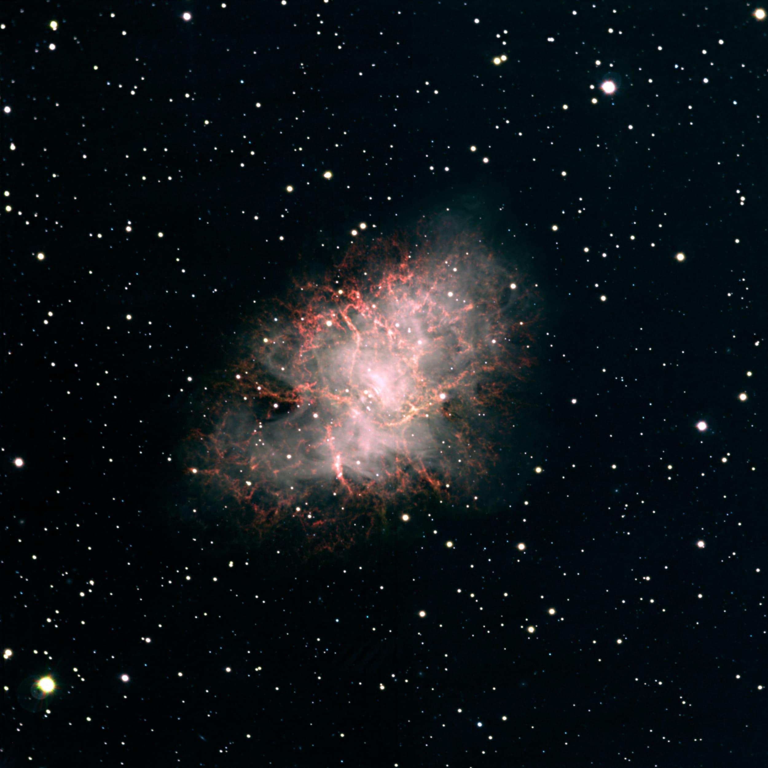 M1 Crab Nebula in Enhanced Color