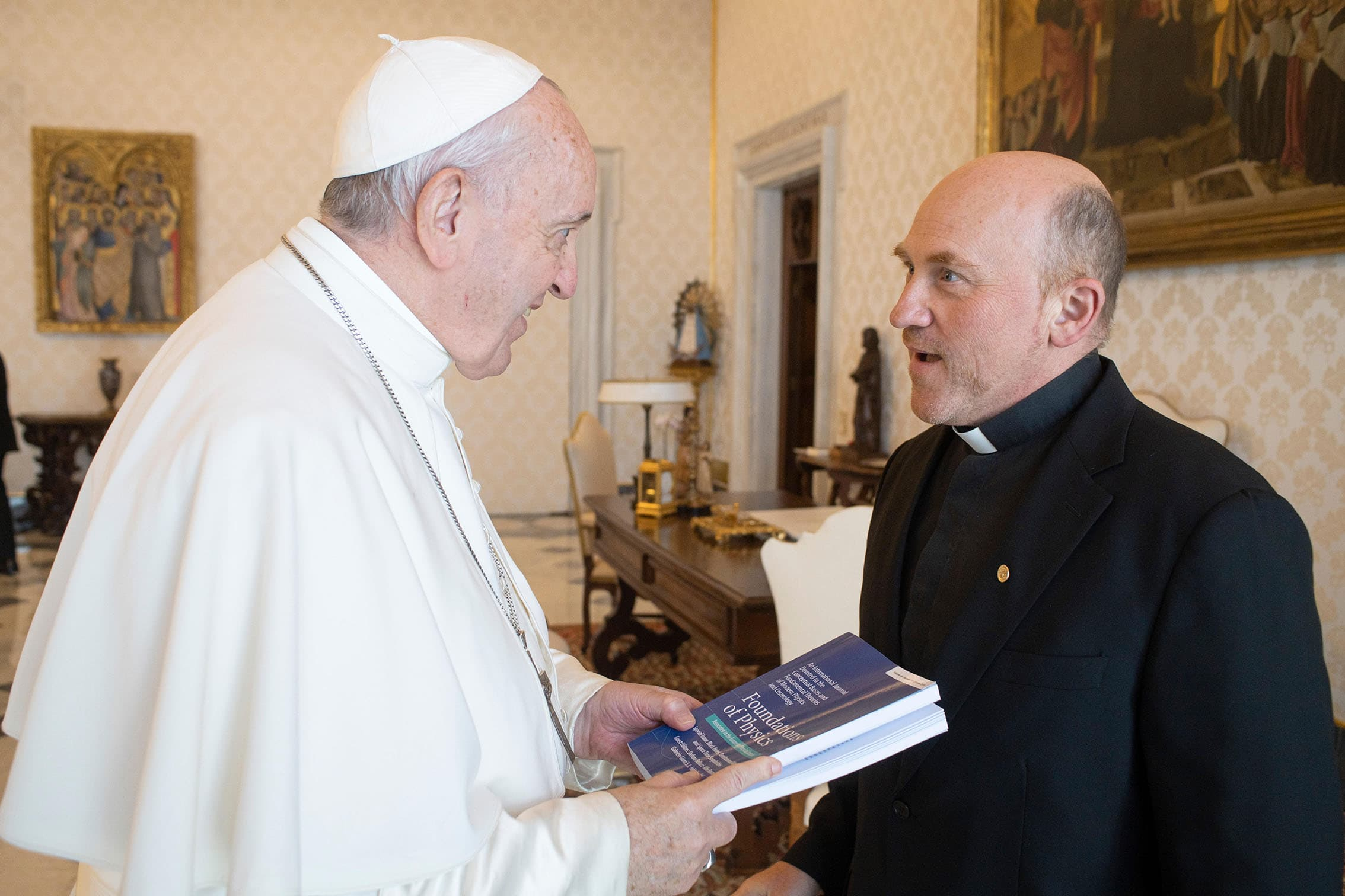 Pope Francis and Fr. Gabriele Gionti, S.J.