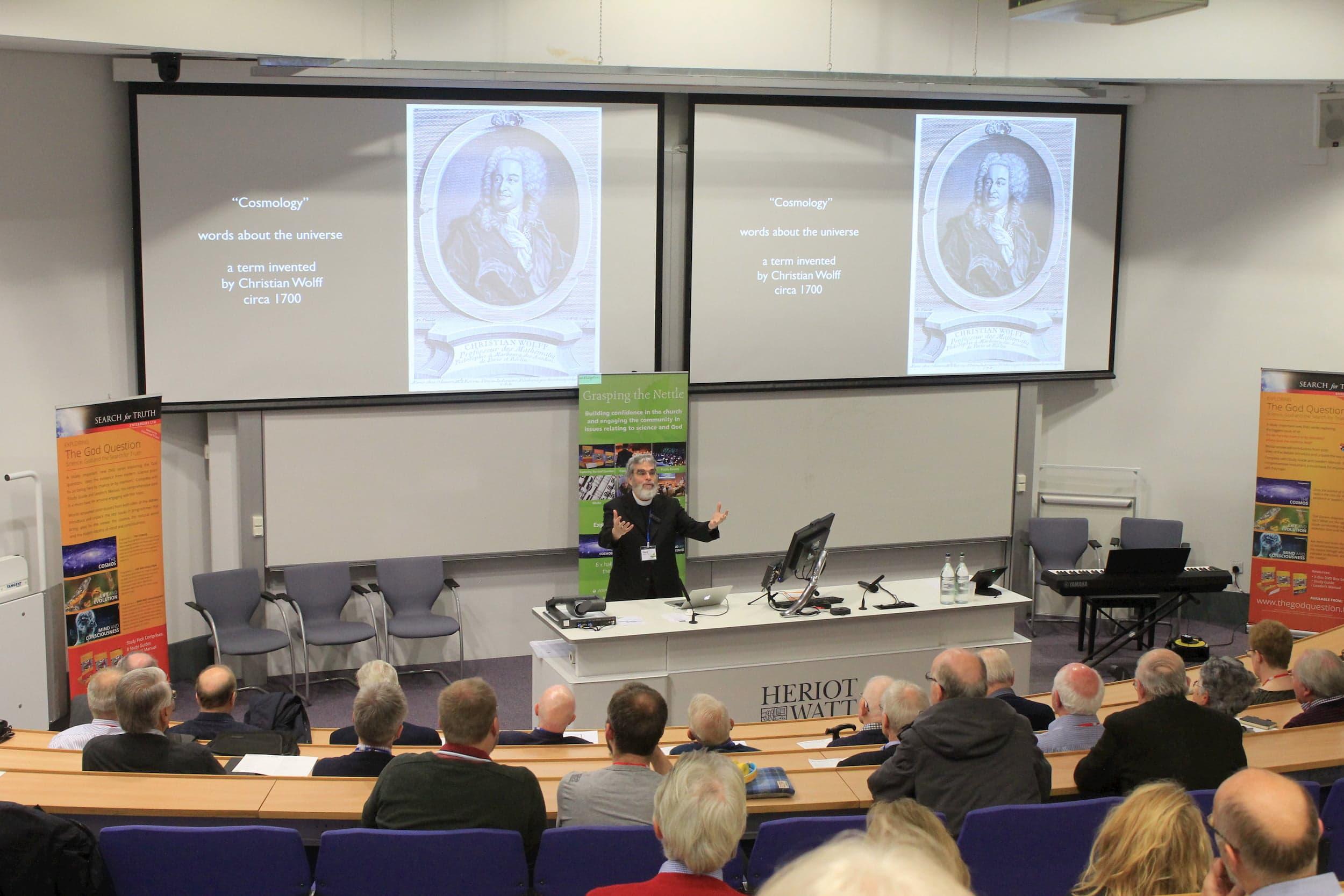 Br. Guy Consolmagno S.J. speaking Heriot-Watt University, Edinburgh, Scotland
