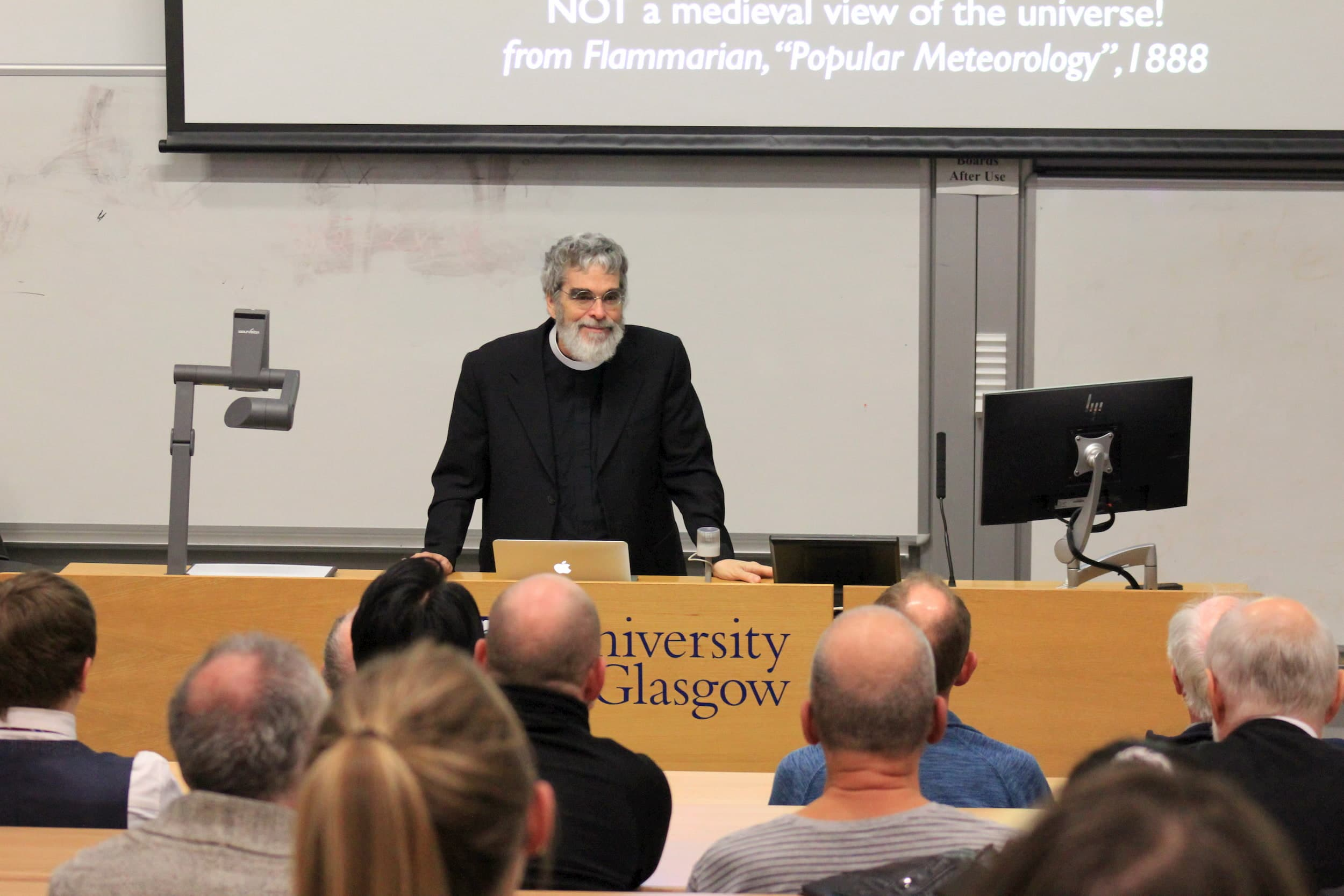 Br. Guy Consolmagno S.J. speaking to the Royal Philosophical Society of Scotland at the University of Glasgow