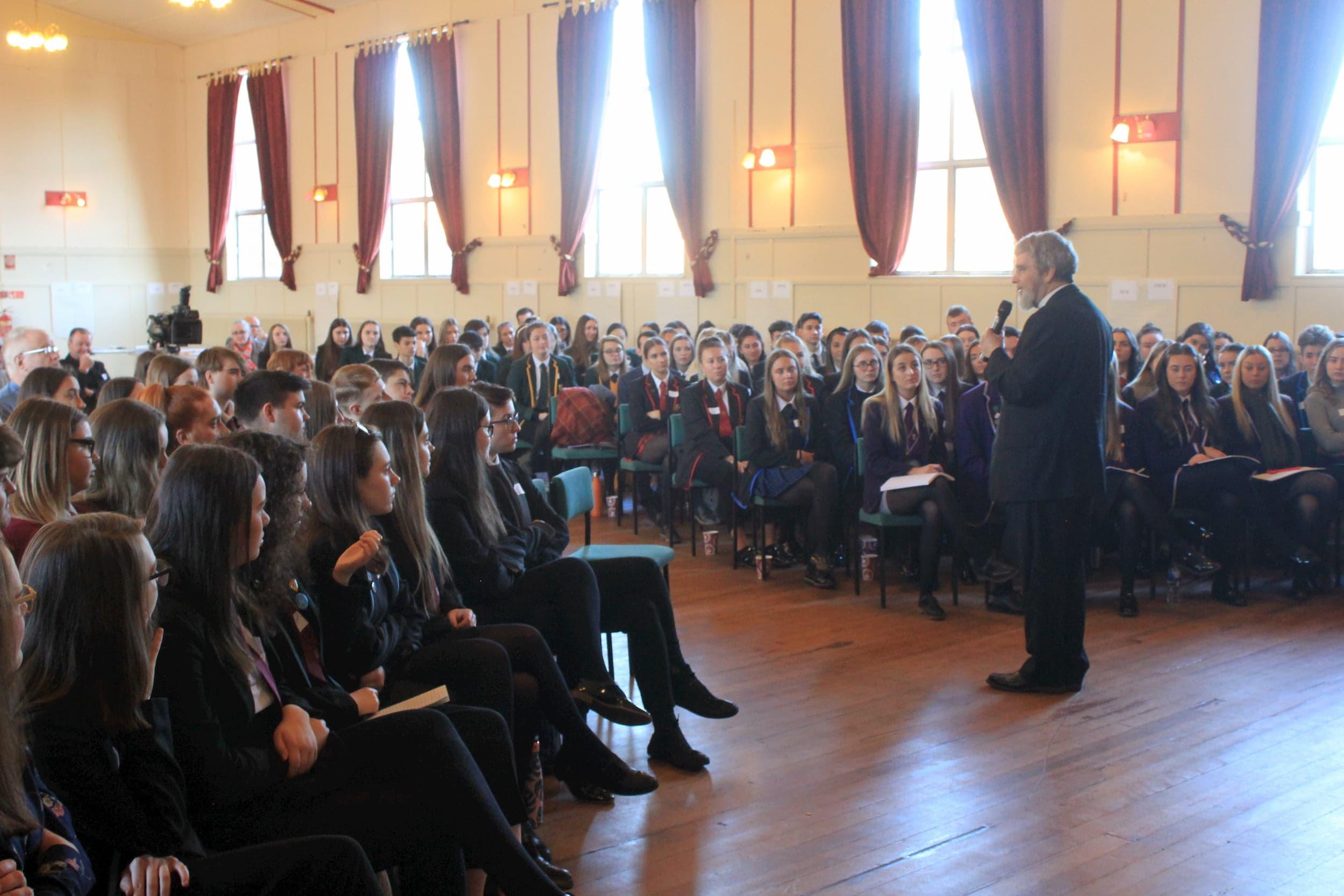 Br. Guy J. Consolmagno, S.J. Visiting School in Scotland