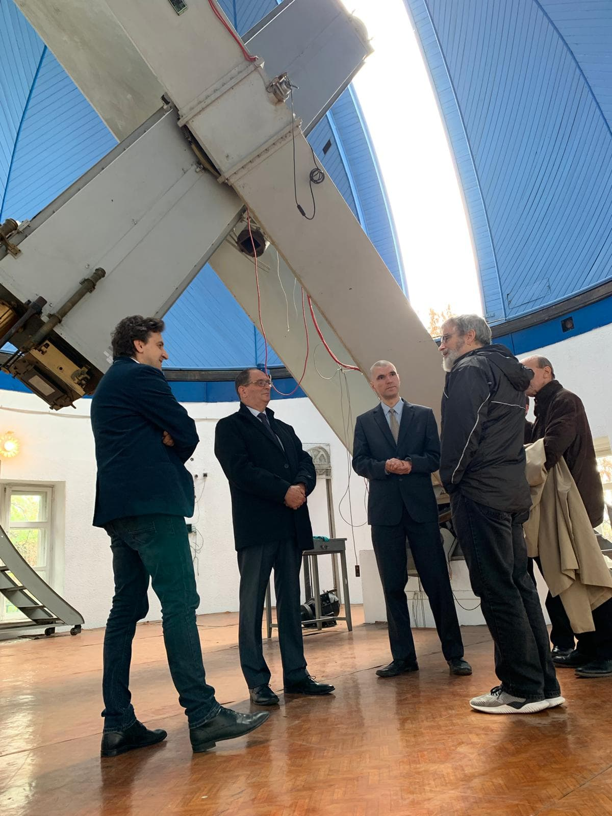 Br. Guy Consolmagno visiting the Bucharest Observatory