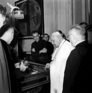 Pope John XXIII with Meteorite Collection