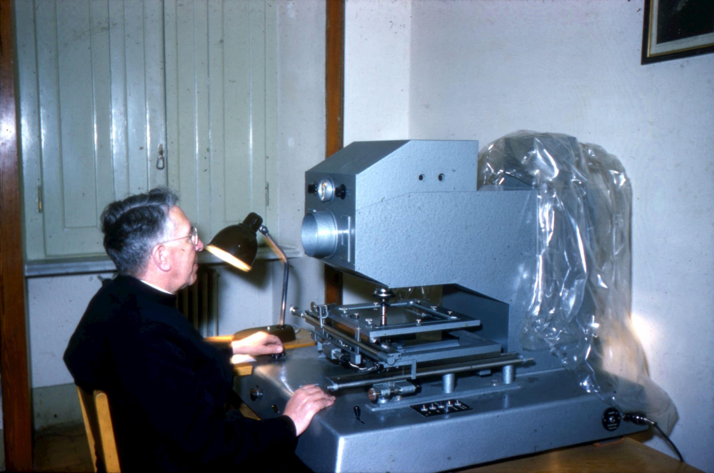 Fr. Patrick Treanor at the Iris Photometer