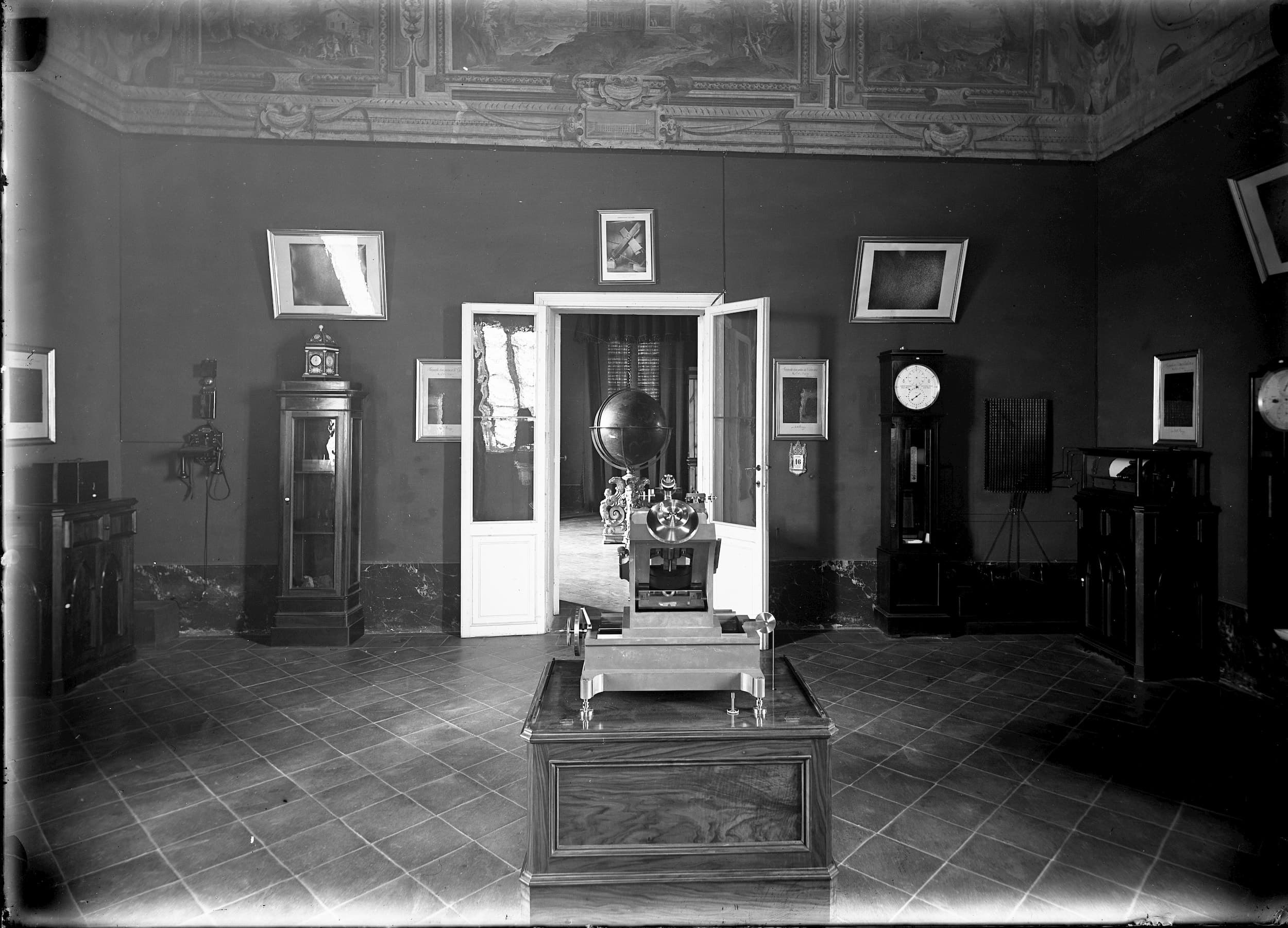 Display of meteorological instruments, circa 1900; 2