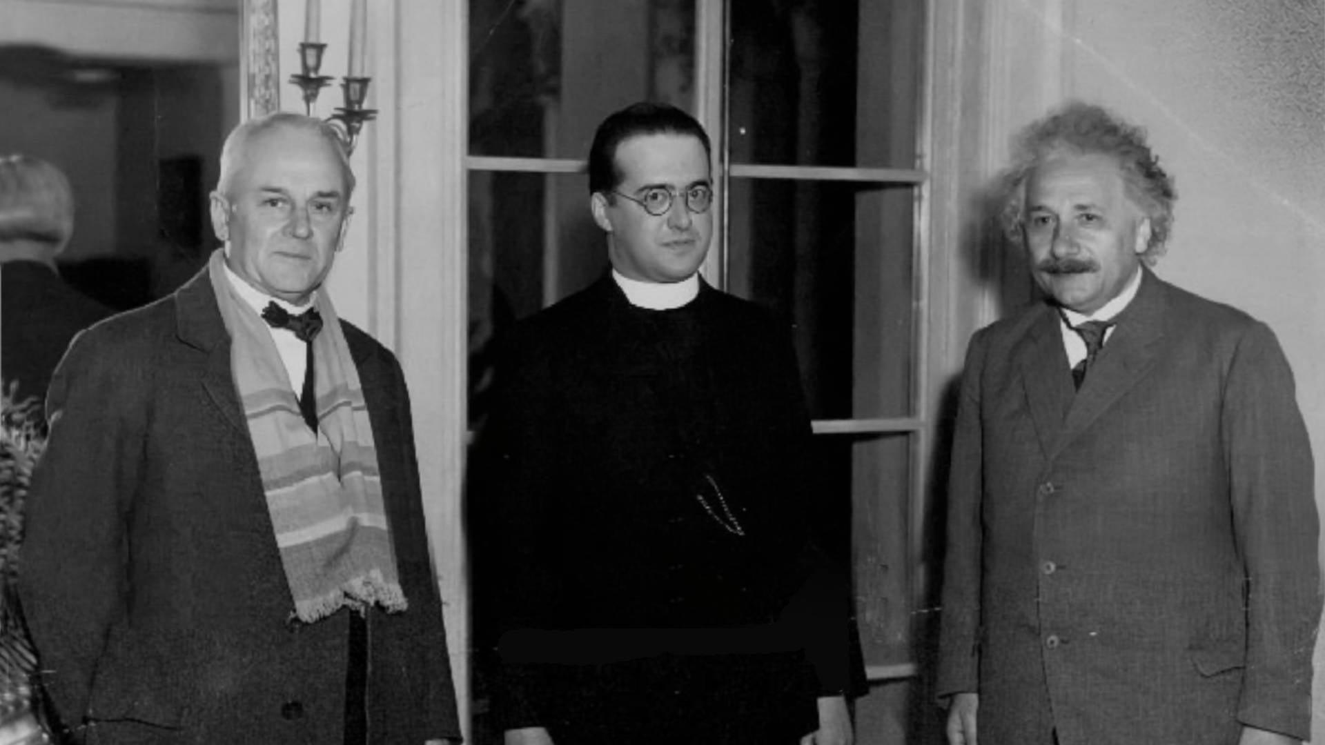 Fr. Georges Lemaître, Robert A. Millikan and Albert Einstein