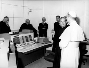 Pope Paul VI and the first computer at the Vatican