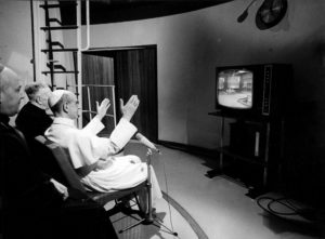 Pope Paul VI Observes the Moon Landing on Television