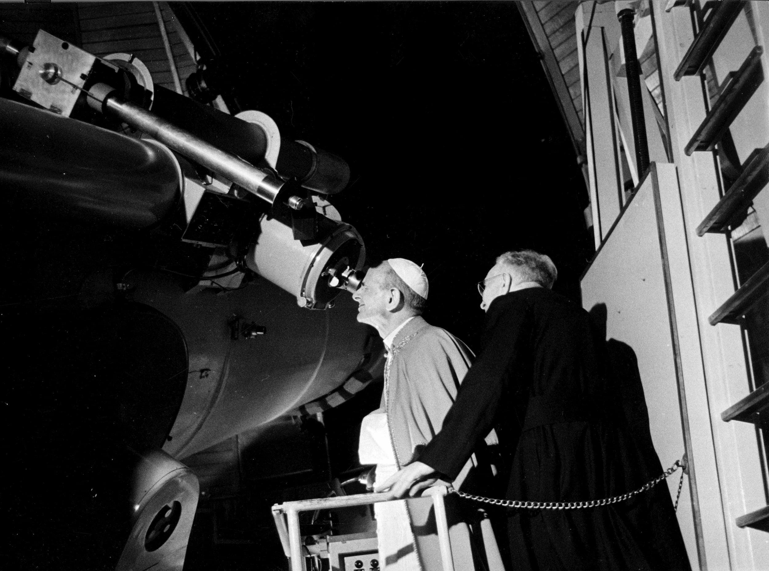 Pope Paul VI Viewing Moon Landing