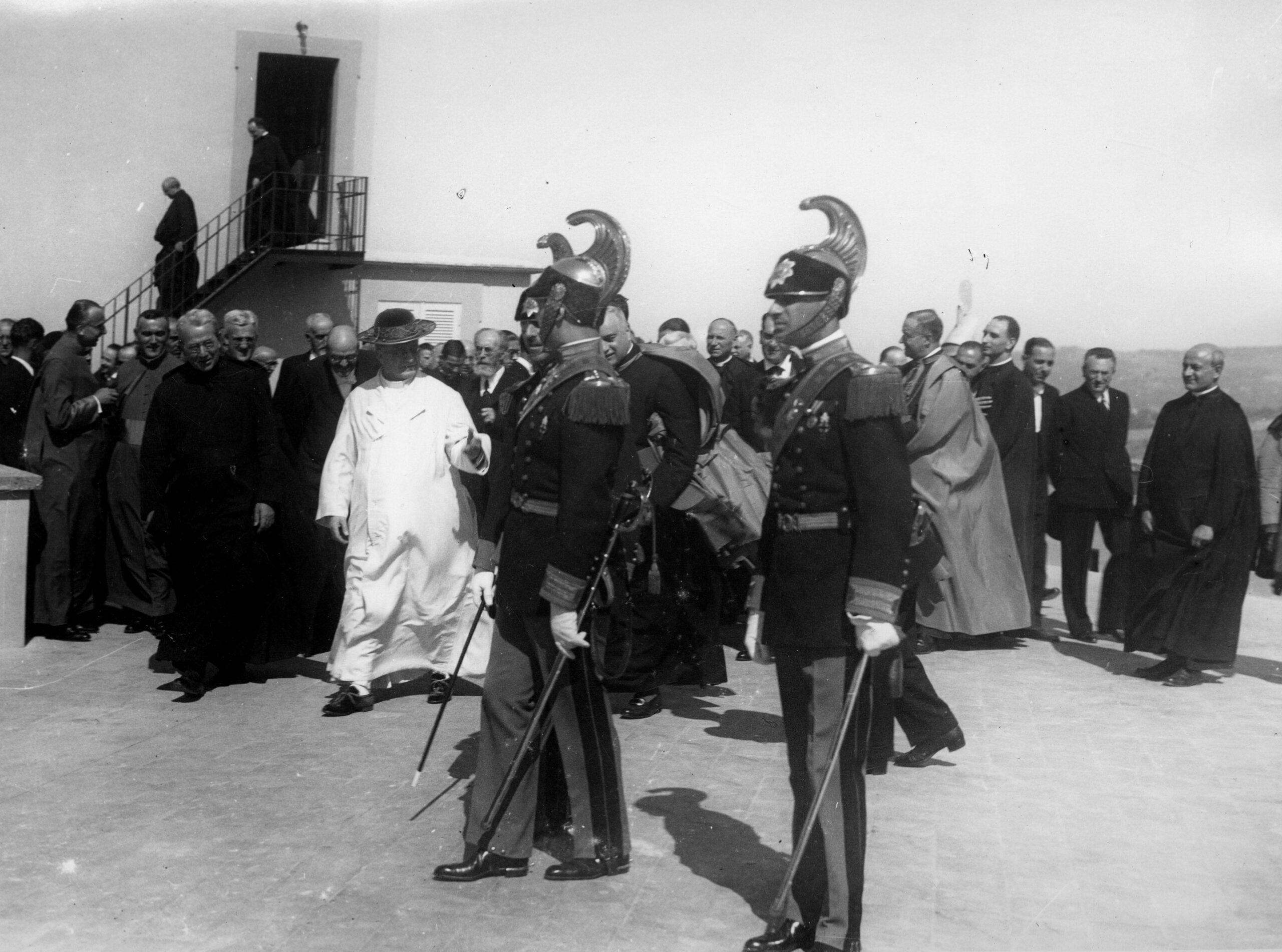 Pope Pius XI at the Dedication of the New Telescopes at Castel Gandolfo