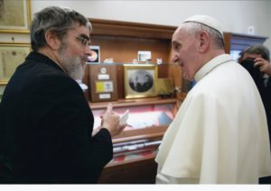 Pope Francis and Br. Guy J. Consolmagno, S.J.
