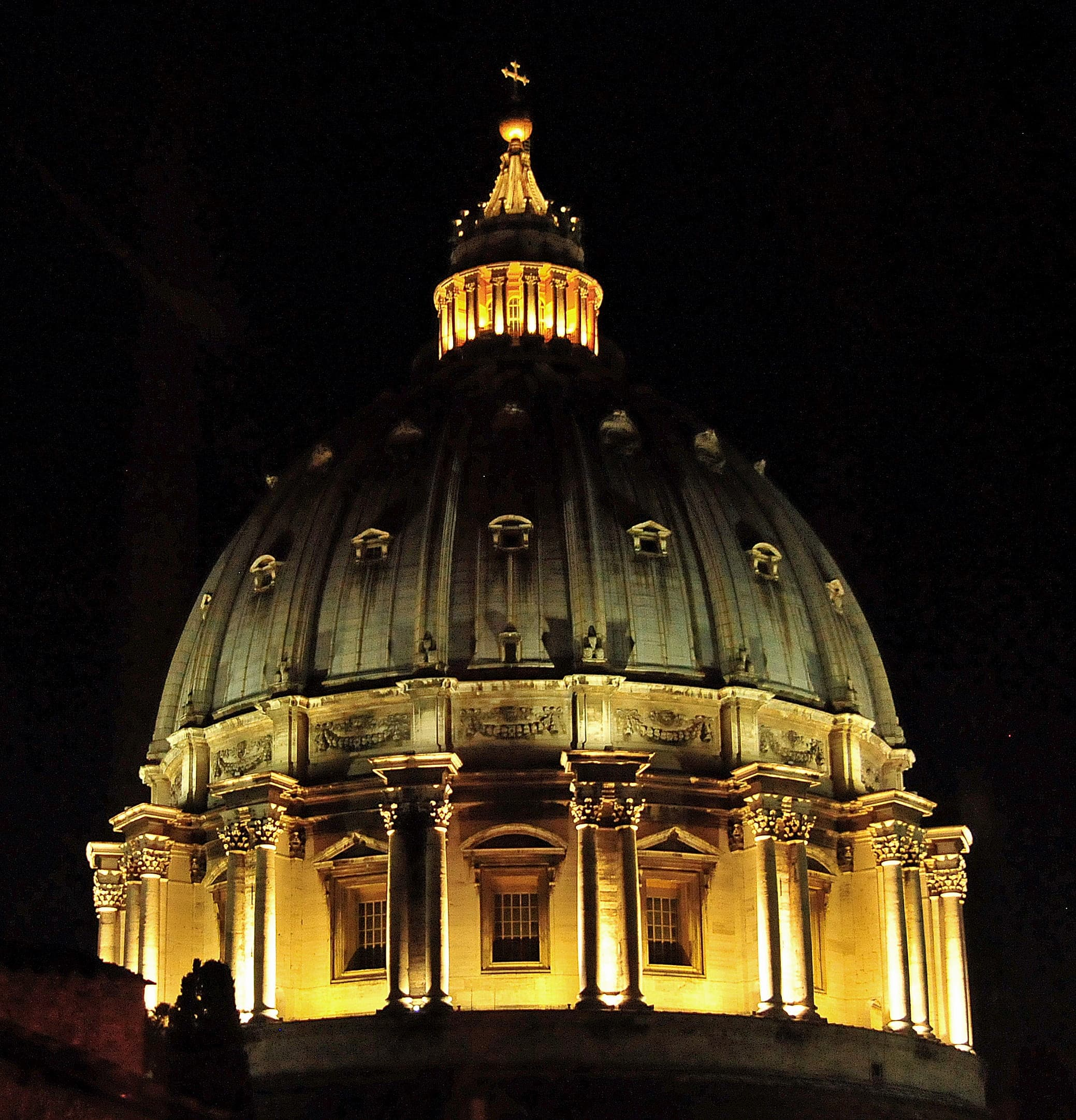 St. Peter's Dome at Night