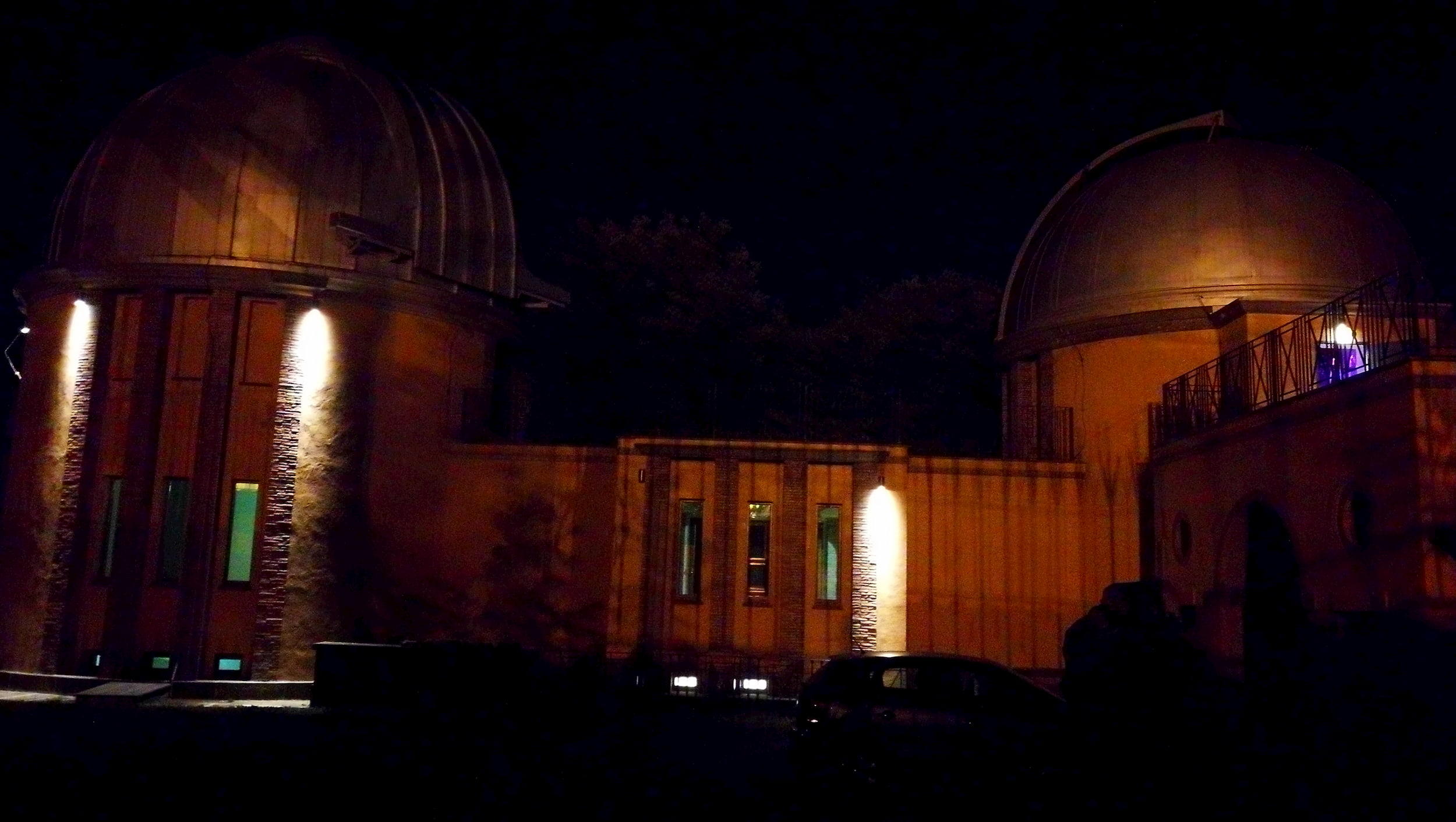 Schmidt and CdC Domes at Night