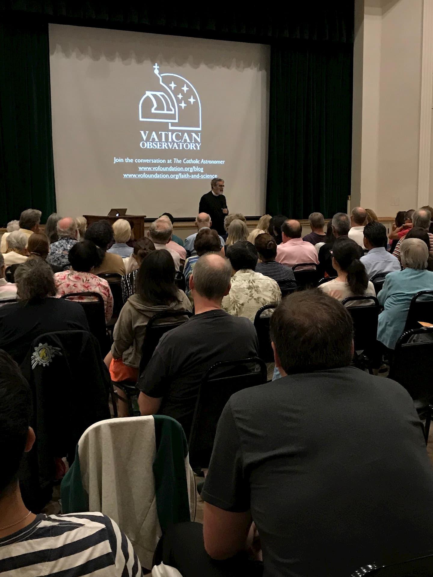 Br. Guy Consolmagno speaking at Holy Family Parish, South Pasadena, CA