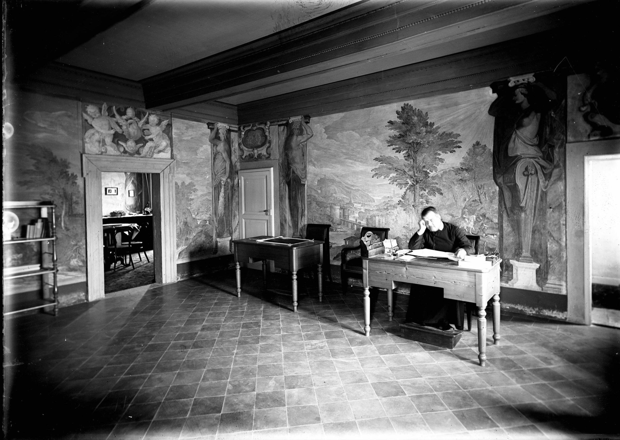 Fr. Lais in his office, circa 1900