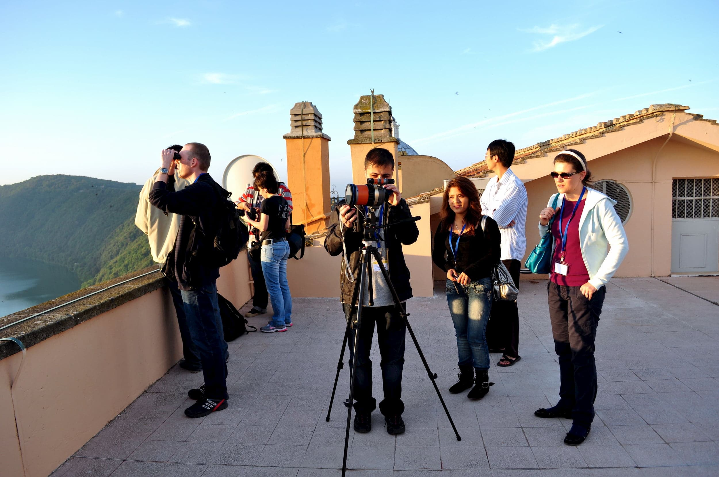 Astronomy Grad Students Watching the Transit of Venus