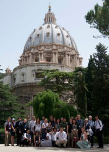 Group Shots of Students in front of St. Peter's Dome