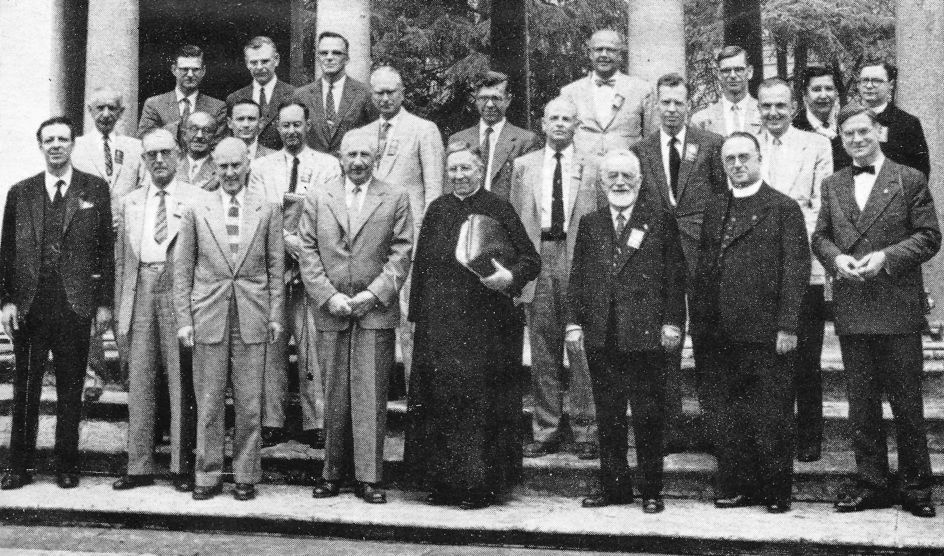 The Attendees of the 1957 Vatican Conference on Stellar Populations.