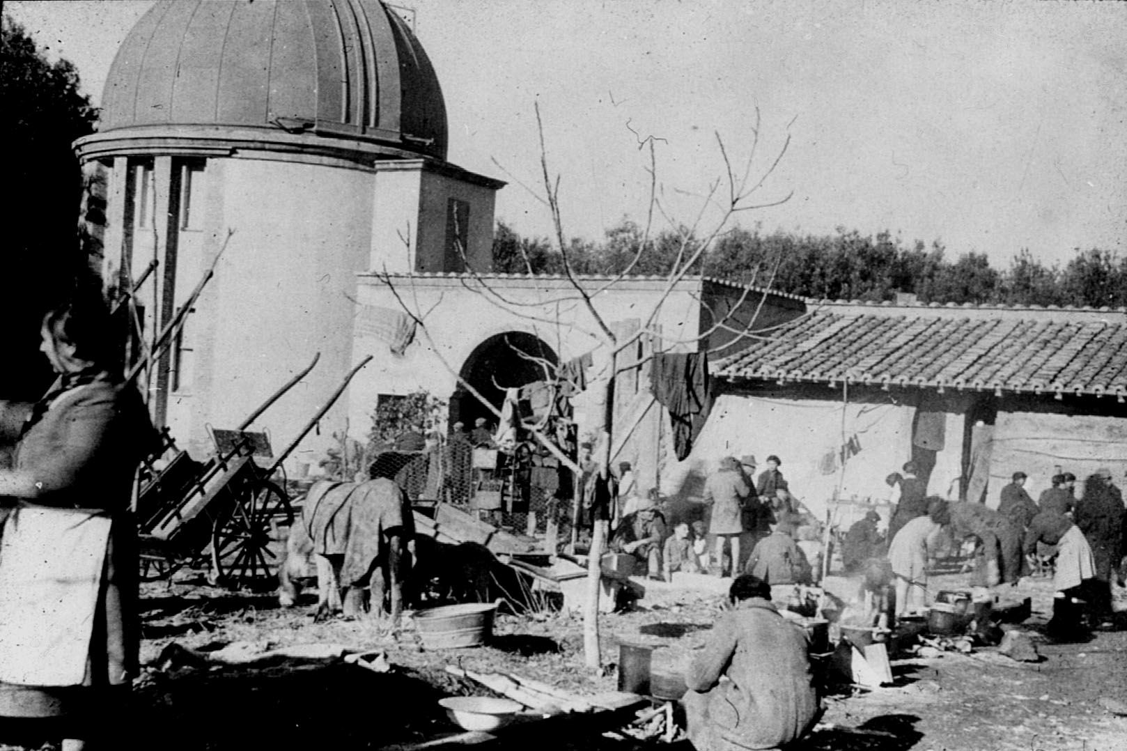 War Refugees Housed in the Papal Gardens
