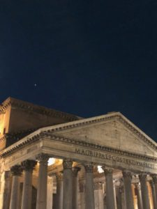 Jupiter over the Pantheon