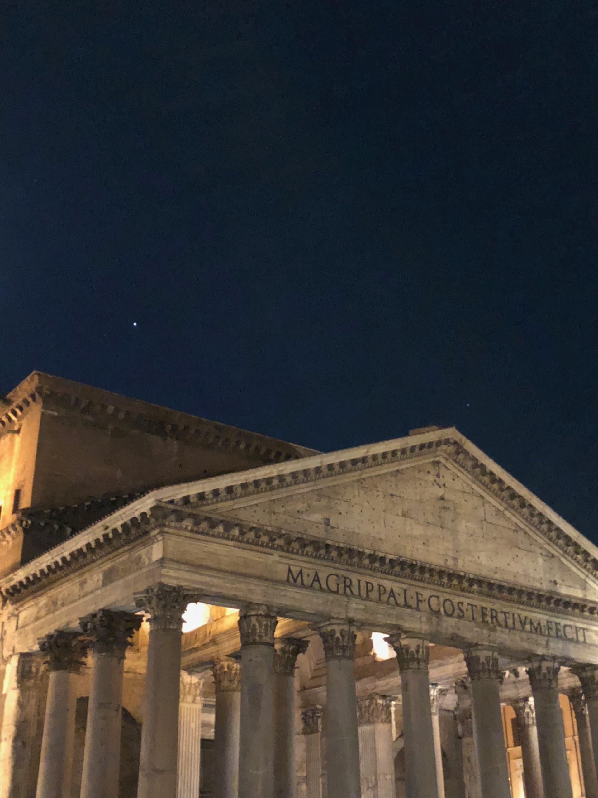 Jupiter over the Pantheon
