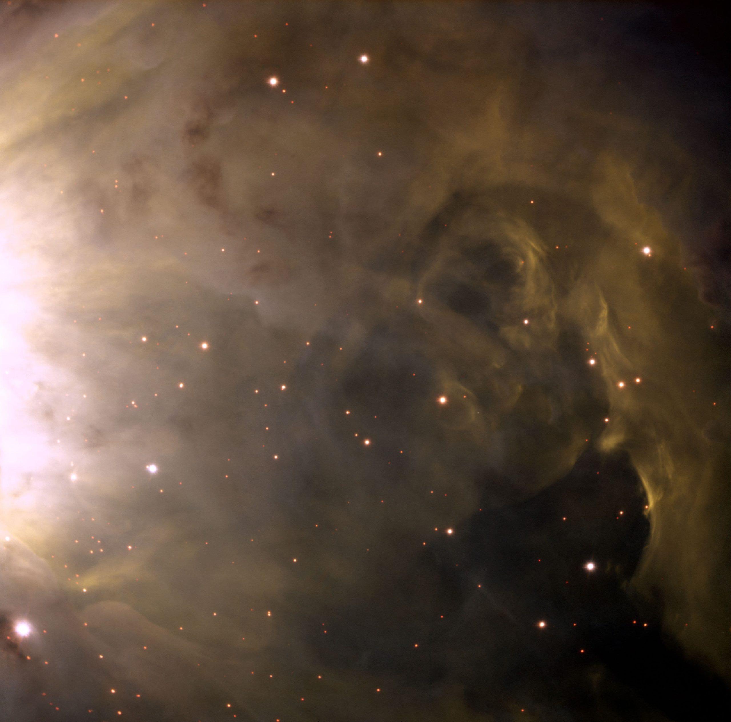 Detail of the Orion Nebula, an Emission Nebula, M42