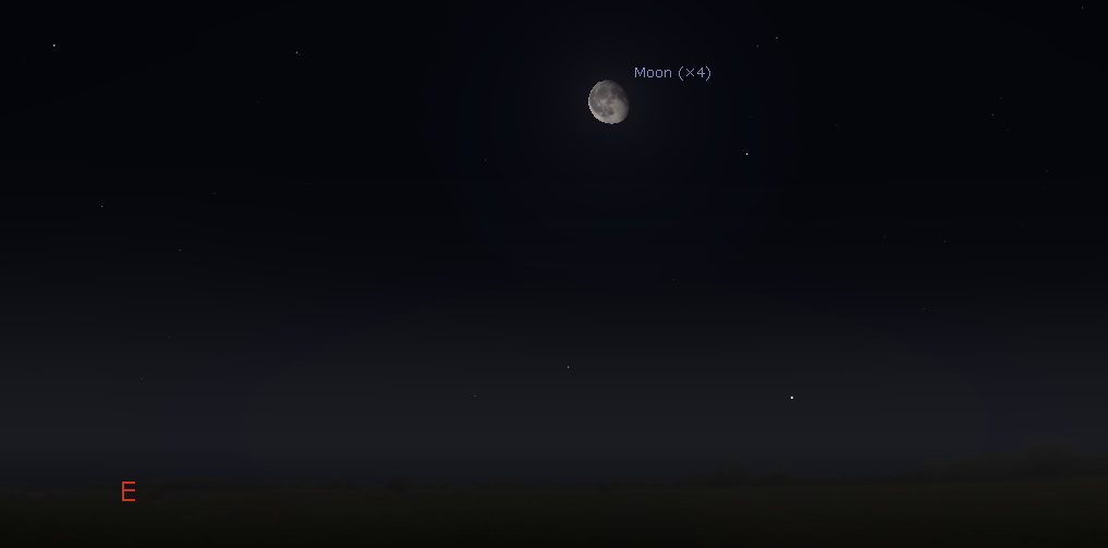 Moon in the eastern sky