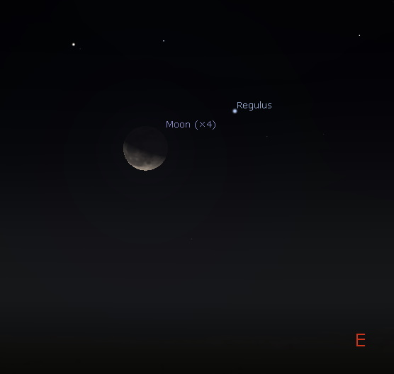 Conjunction of the Moon and Regulus