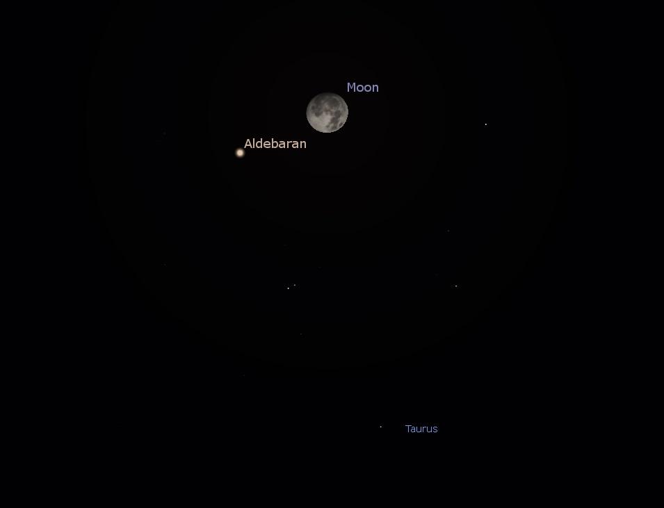 Moon and Aldebaran