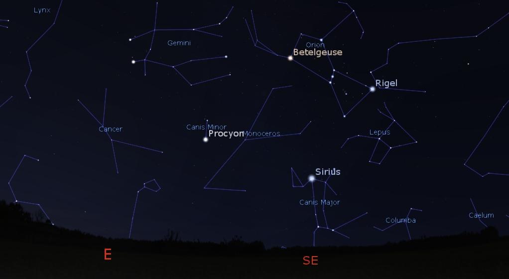 Southeastern predawn sky