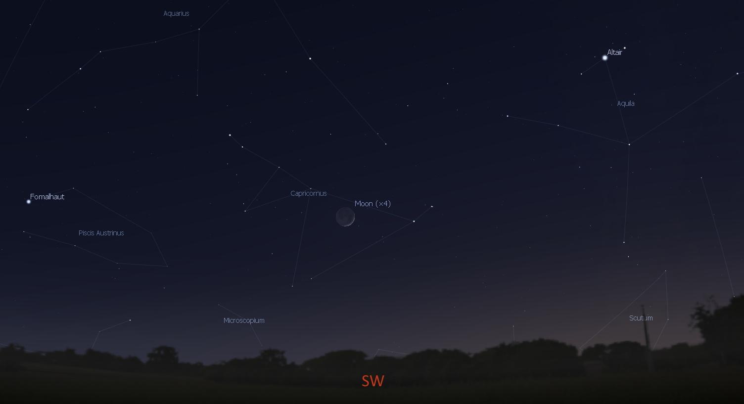 Southwest sky before dawn, Dec. 21, 2017