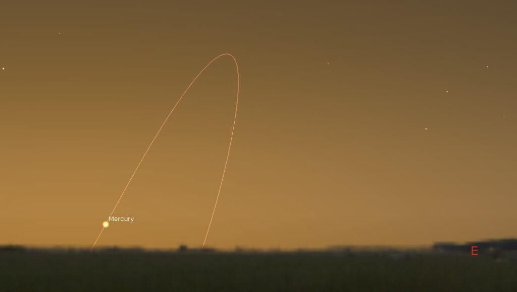 Mercury in the eastern predawn sky