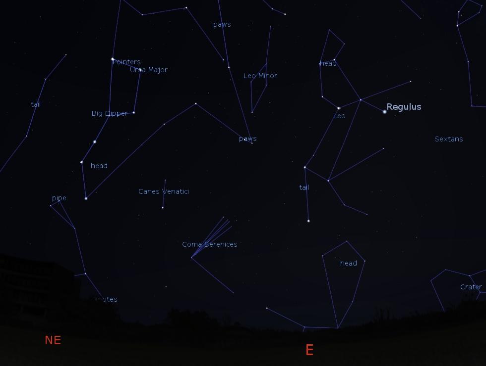 East-Northeast Predawn Sky