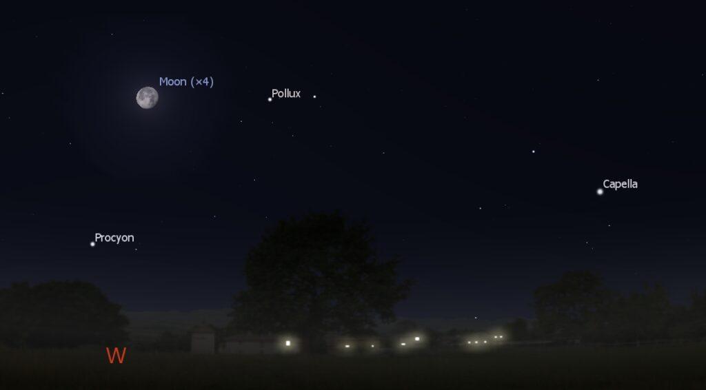Southwest sky before dawn, Jan. 3, 2018