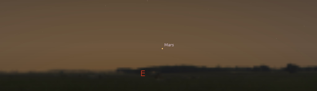 Mars in the east