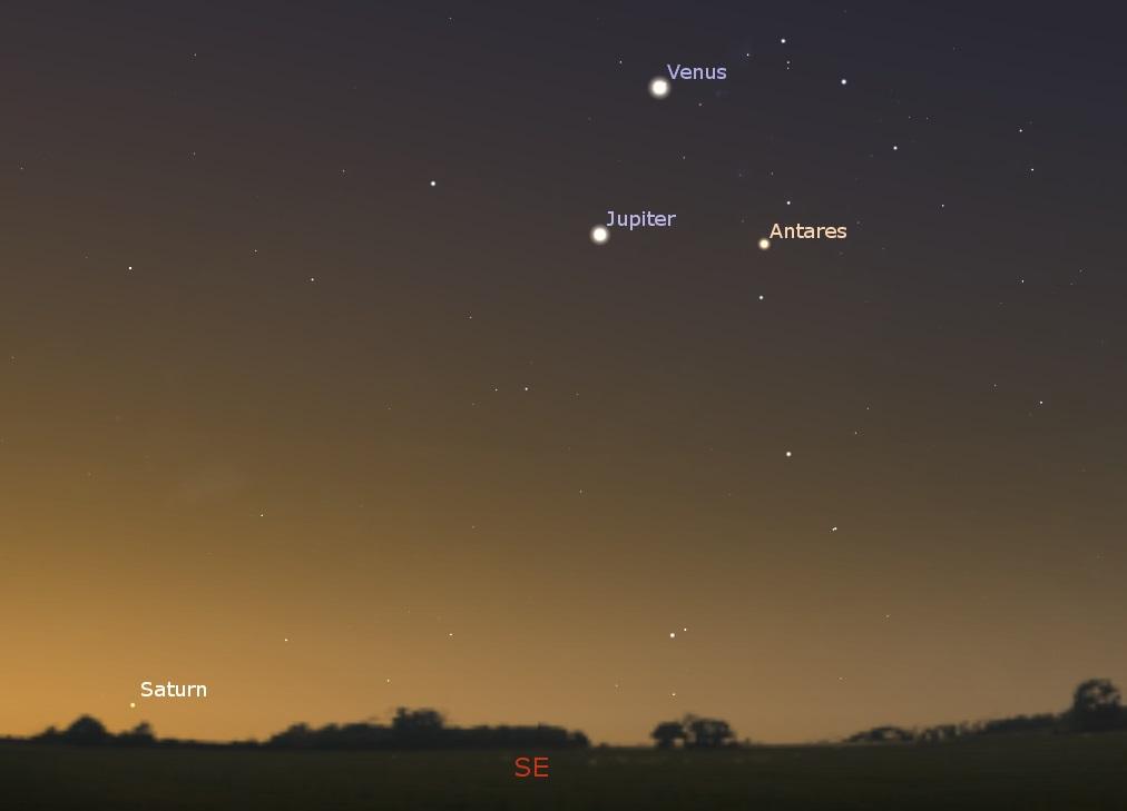 Southeastern sky before dawn